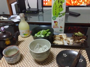 梅酒&ゆず酒 with 枝豆、ソラマメ、軟骨